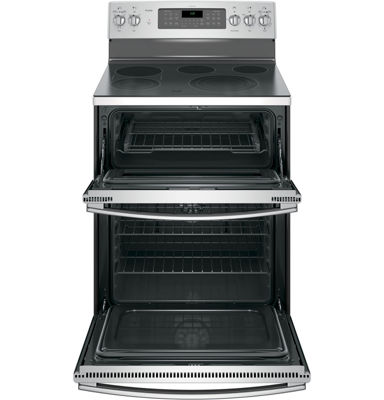 "GE Profile™ 30"" 6.6 Cu. Ft. Double Oven Electric Range with Self Cleaning Convection Oven"