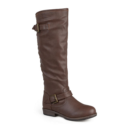Journee Collection Womens Spokane Studded Riding Boots