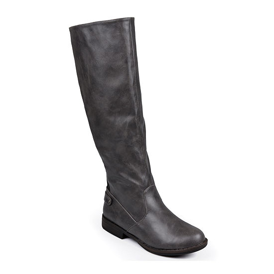 Journee Collection Womens Lynn Stretch Knee-High Riding Boots