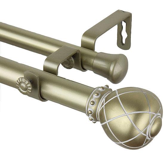 """Rod Desyne Supreme 1"""" Adjustable Double Curtain Rod"""