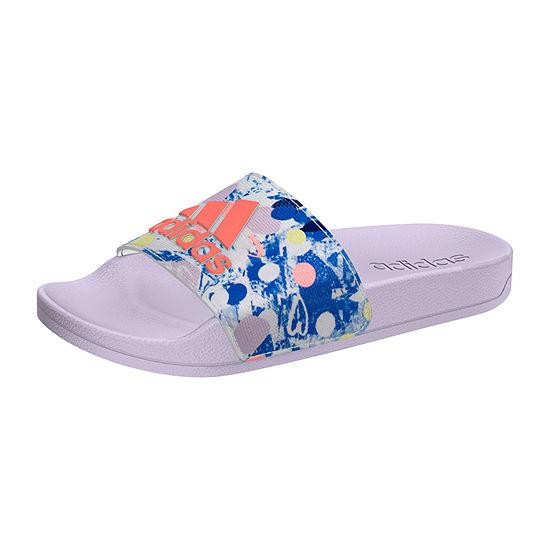 Adidas Little/Big Kid Girls Adilette Shower K Slide Sandals