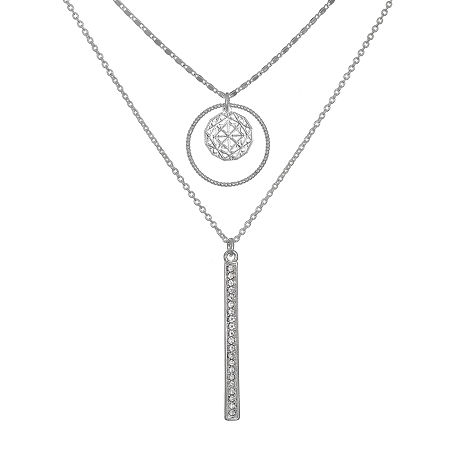 Bijoux Bar 16 Inch Link Chain Necklace, One Size , Silver