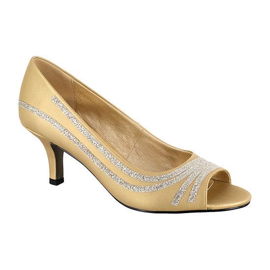 Easy Street Womens Lady Pumps Open Toe Spike Heel