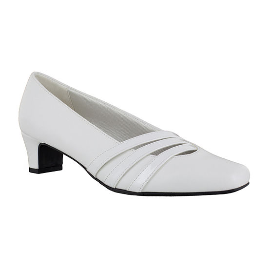 Easy Street Womens Entice Pumps Square Toe Block Heel