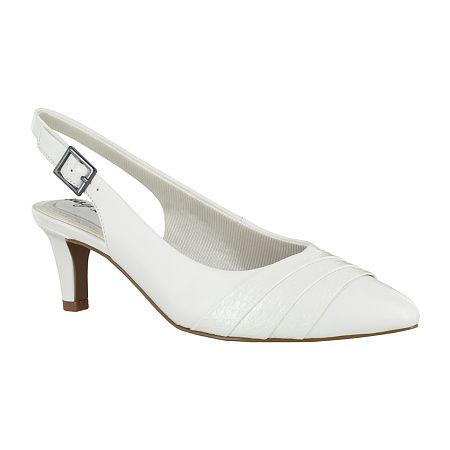 Vintage Shoes, Vintage Style Shoes Easy Street Womens Baker Round Toe Kitten Heel Pumps $44.99 AT vintagedancer.com