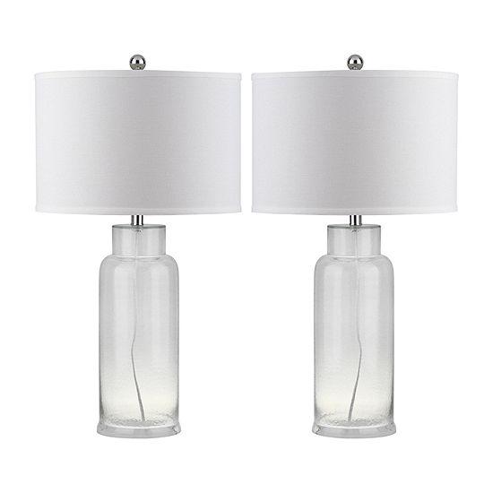 Safavieh 29 In High Bottle 2-pc. Lamp Set
