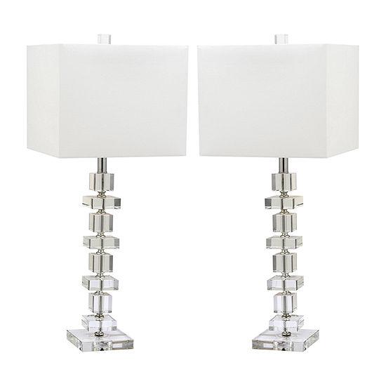 Safavieh Deco 28.5 In High Set Of 2 2-pc. Lamp Set