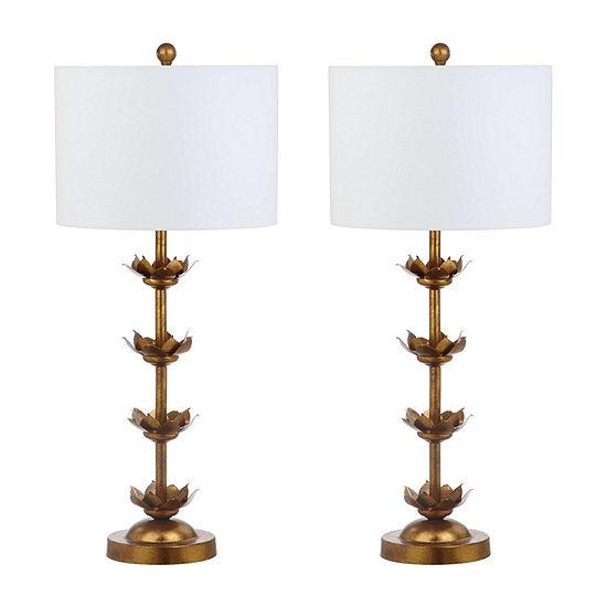 Safavieh Lani Leaf 32 In High Set Of 2 Lamp Set