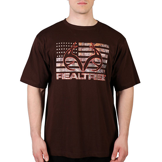 Realtree Mens Crew Neck Short Sleeve Graphic T-Shirt