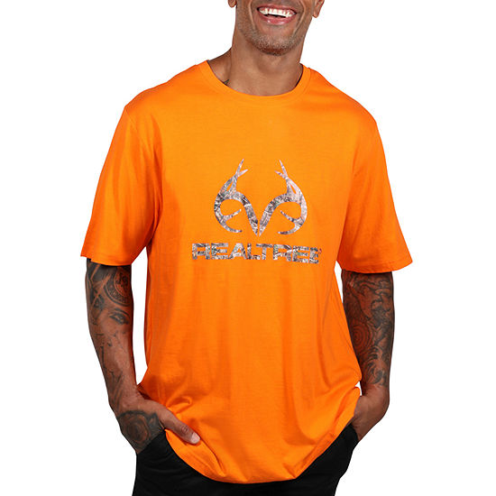 Realtree Mens Crew Neck Short Sleeve Graphic T-Shirt