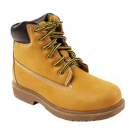 Deer Stags Little/Big Kid Boys Mak2 Insulated Block Heel Wide Width Work Boots