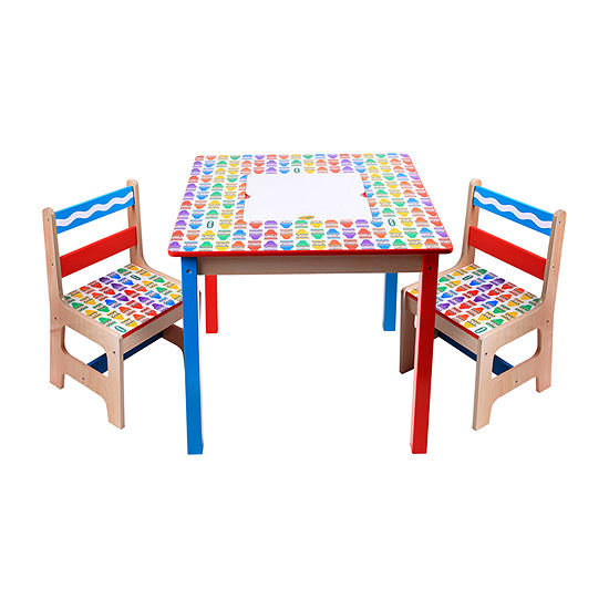 Crayola Kids Wooden Table And Chairs 3-pc. Kids Table + Chairs-Painted