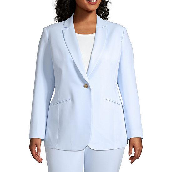 Worthington Womens 1 Button Suit Jacket - Plus