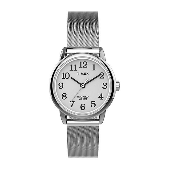 Timex Womens Silver Tone Stainless Steel Bracelet Watch - Tw2u07900jt