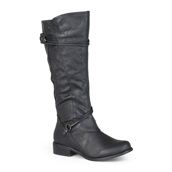 Journee Collection Womens Harley Wide Calf Riding Boots