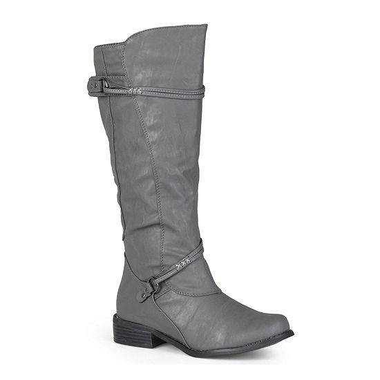 Journee Collection Womens Harley Extra Wide Calf Riding Boots