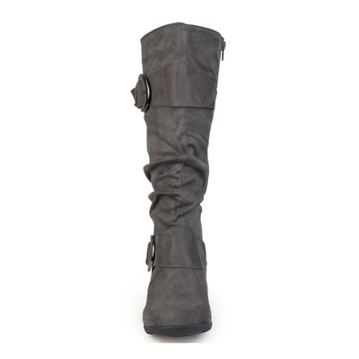 Journee Collection Jester Wide Calf Slouch Knee High Boots