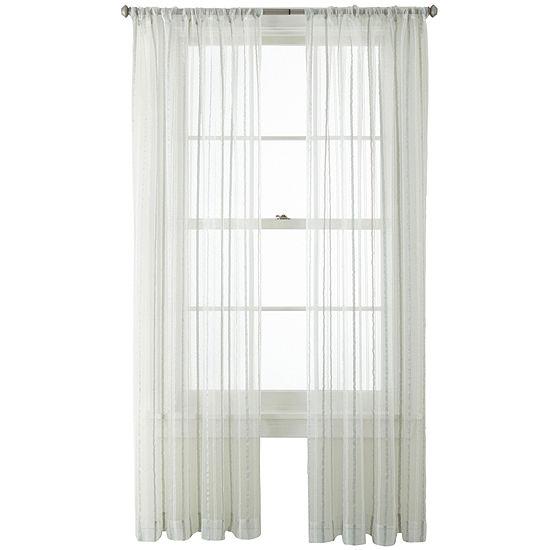 Liz Claiborne® Lauren Rod-Pocket Sheer Panel