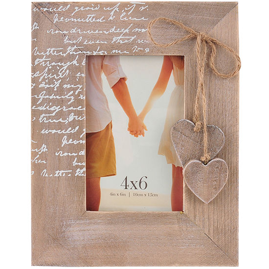 Burnes Of Boston Heart Embellishment 4x6 Picture Frame