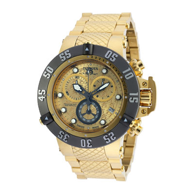 Invicta® Subaqua Mens Gold-Tone Stainless Steel Chronograph Watch 20158