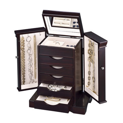 Java Modern 5-Drawer Jewelry Box