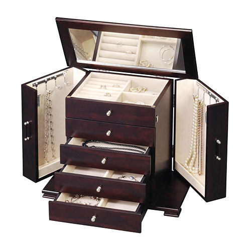 Java Classic 4-Drawer Jewelry Box