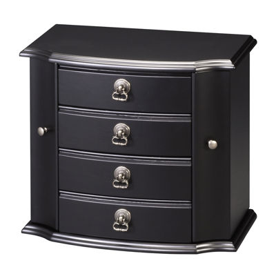 Black 3-Drawer Jewelry Box
