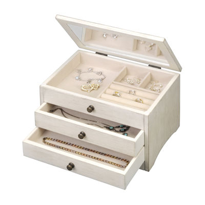 White Distressed Jewelry Box