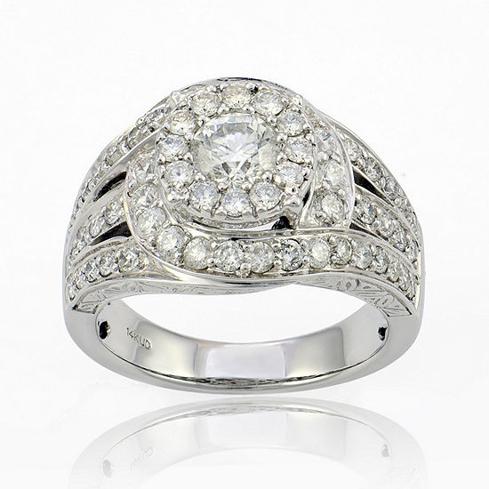 Limited Quantities 2 Ct Tw Diamond 14k White Gold Ring