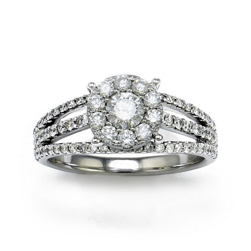 LIMITED QUANTITIES 1 CT. T.W. Diamond 18K White Gold Ring