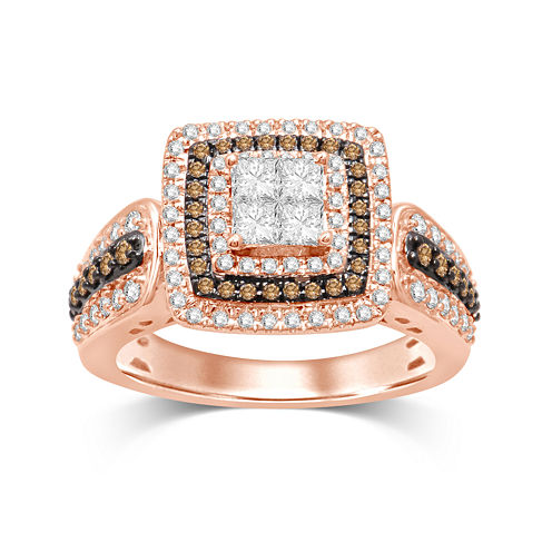 1 CT. T.W. Diamond 10K Two-Tone Gold Ring