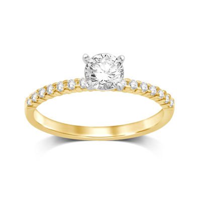 1/2 CT. T.W. Diamond 10K Yellow Gold Solitaire Ring