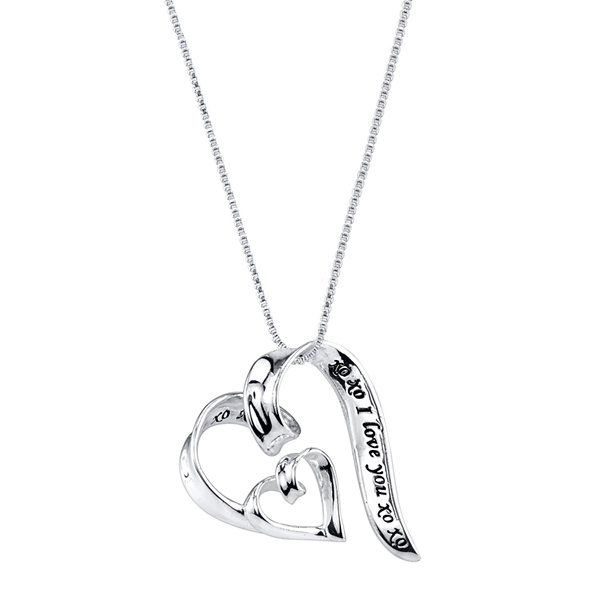 Inspired moments sterling silver i love you heart pendant inspired moments sterling silver i love you heart pendant necklace aloadofball Image collections