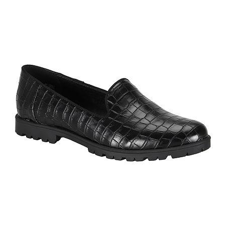 Wearever Shoes Womens Quade Loafers, 6 1/2 Medium, Black