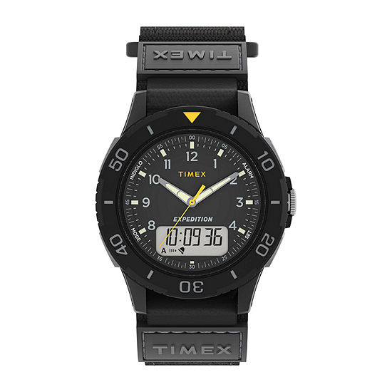 Timex Mens Black Strap Watch-Tw4b18300jt