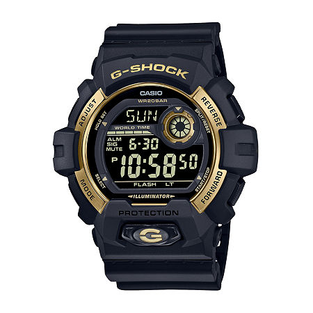 Casio Mens Digital Black Strap Watch-G8900gb-1, One Size , No Color Family