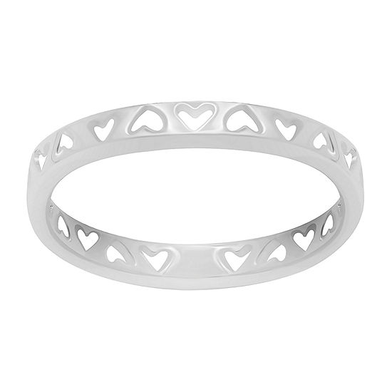 Itsy Bitsy Sterling Silver Heart Band