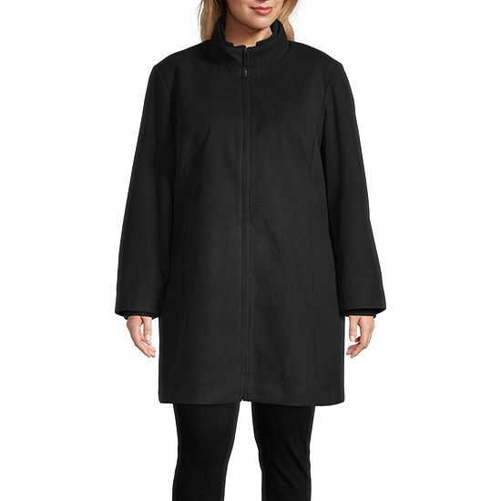 Details Knit Heavyweight Overcoat Plus