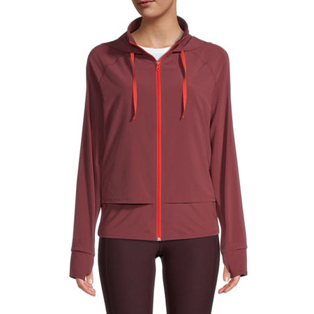 Xersion Womens Run Jacket, Medium , Red