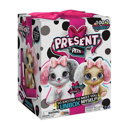 Present Pets, Fancy Puppy Interactive Plush Pet Toy With Over 100 Sounds And Actions (Style May Vary), One Size , 6051191