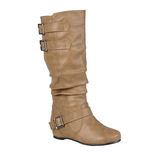 Journee Collection Womens Tiffany Wide Calf Slouch Riding Boots