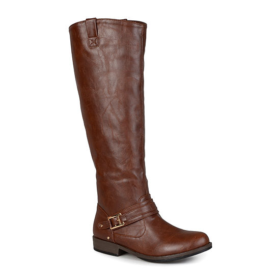 Journee Collection Womens Kai Riding Boots Flat Heel