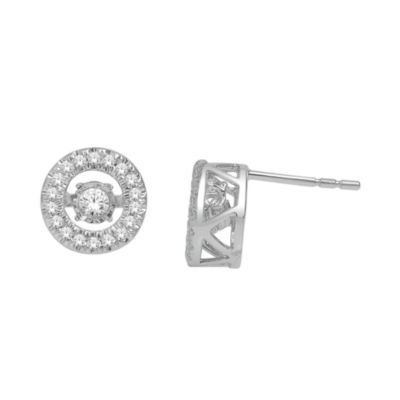 Love in Motion™ 1/3 CT. T.W. Diamond 10K White Gold Round Earrings