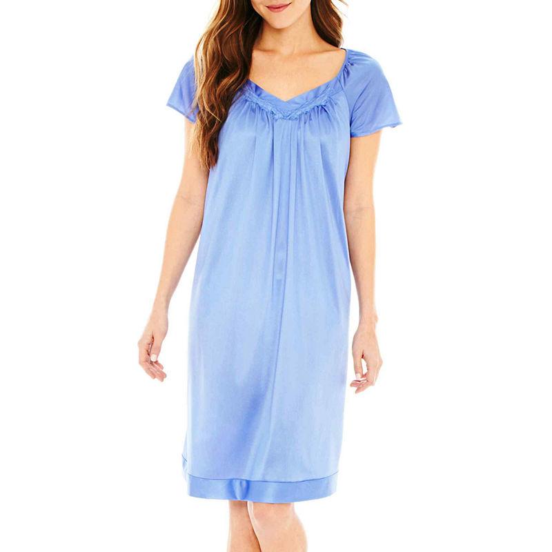 Vanity Fair Flutter-Sleeve Nightgown - Plus plus size,  plus size fashion plus size appare