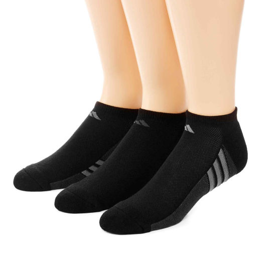 adidas® 3-pk. Mens climacool® Superlite No Show Socks - Extended Size
