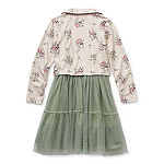 Knit Works Little & Big Girls 2-pc. Jacket Dress