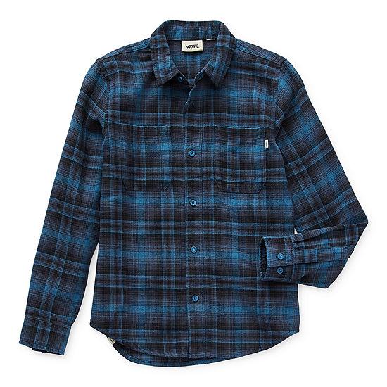 Vans Big Boys Long Sleeve Button-Down Shirt