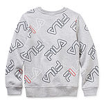 Fila Big Boys Round Neck Long Sleeve Sweatshirt