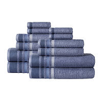 Home Expressions 12-pc. Stripes Bath Towel Set, One Size , Gray