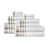 Home Expressions 12-pc. Stripes Bath Towel Set Deals